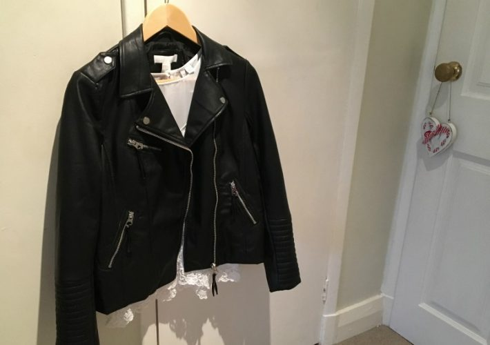 Faux Leather Jacket H&M