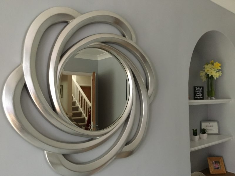 stylish monochrome mirror