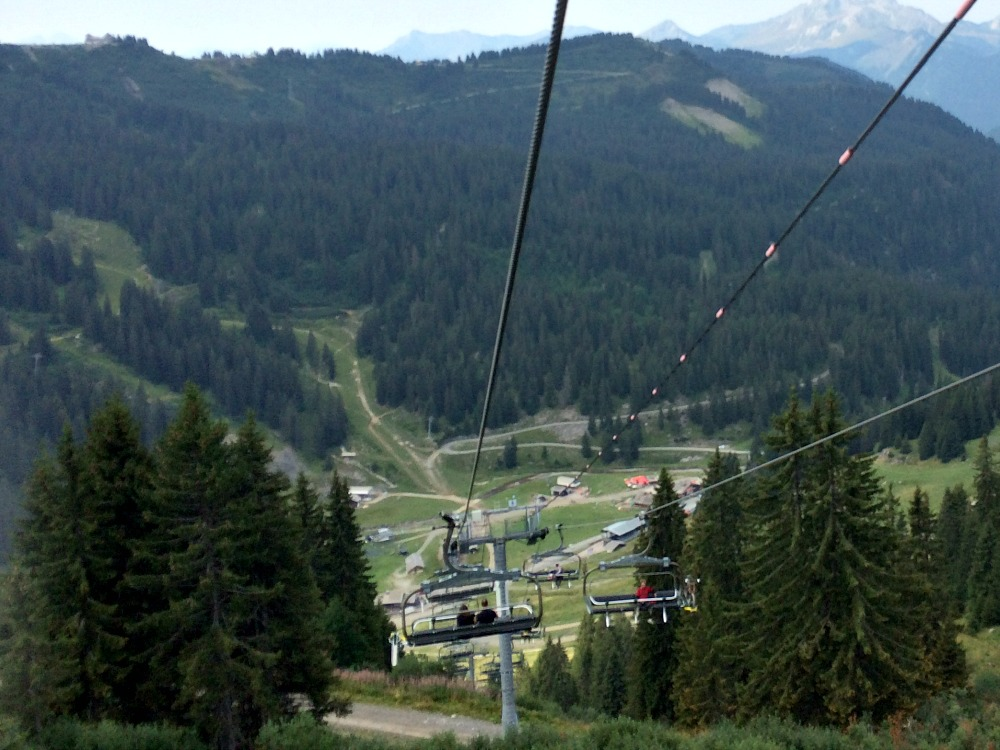 Chair Lift Les Gets Summer