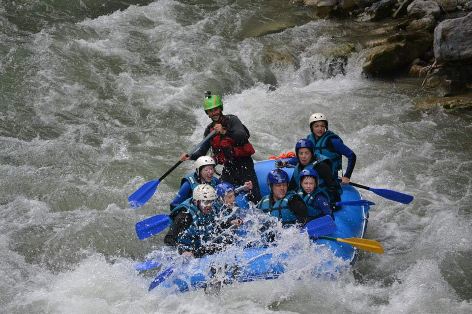 white water rafting morzine