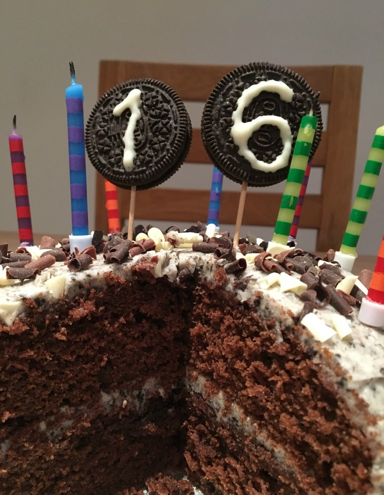 16th birthday cake, oreo cake