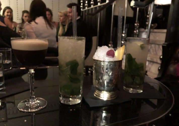 row of cocktails
