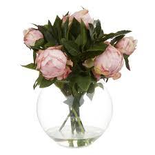 Artificial Peonies in a Vase