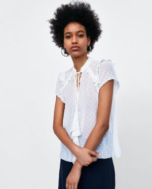 Ecru blouse Zara