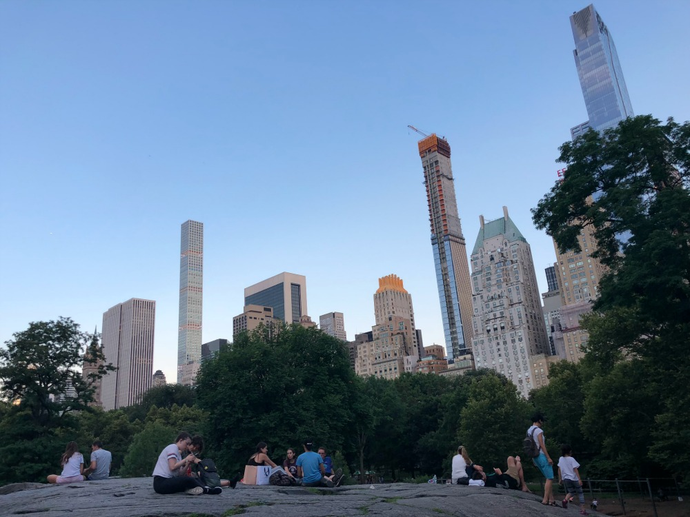 Central Park New York at dusk