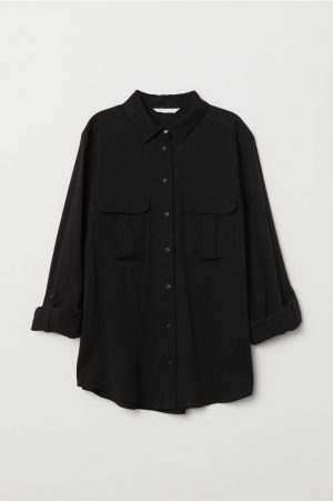 H&M Oversized Black Shirt