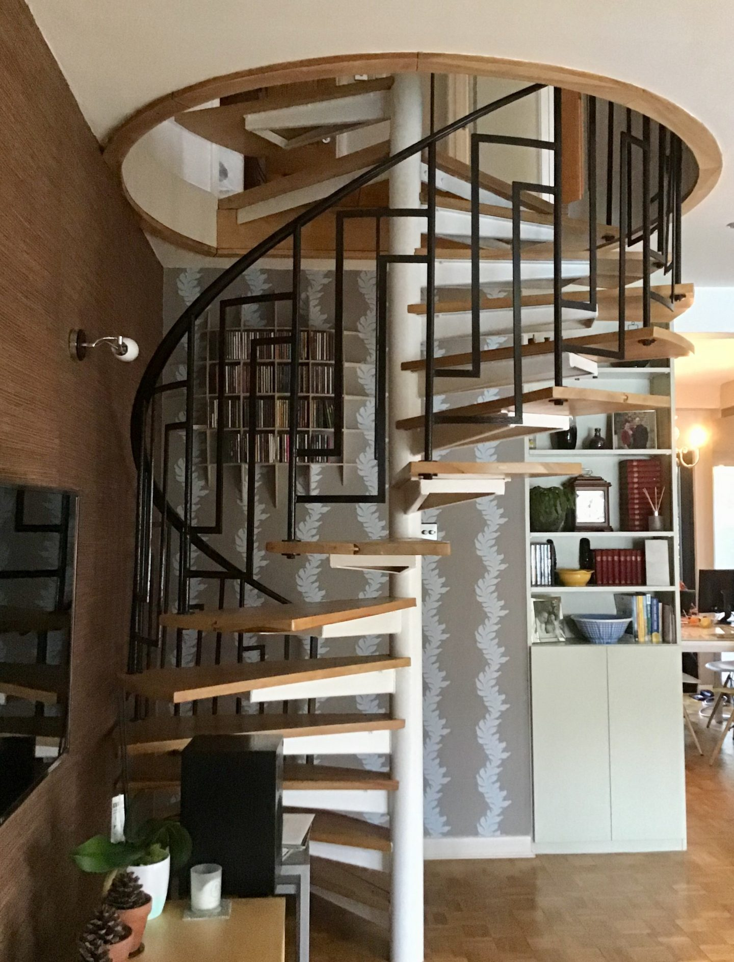 Spiral Staircase in centre of home
