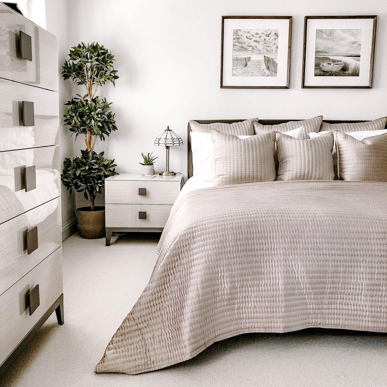 Minimalist Family Home Master Bedroom