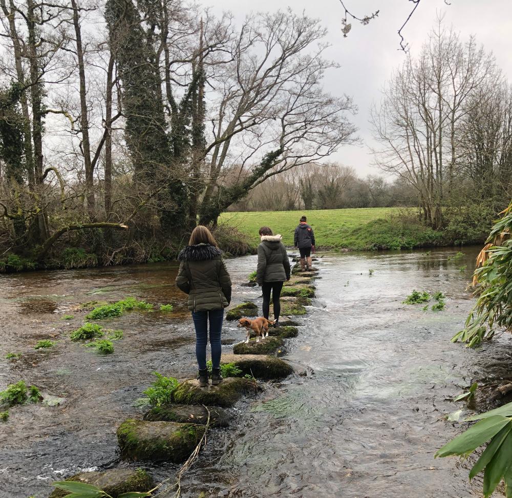 stepping stones at Chagford