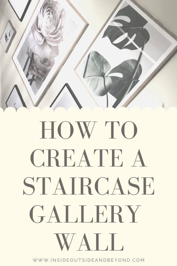 how to create a staircase gallery wall