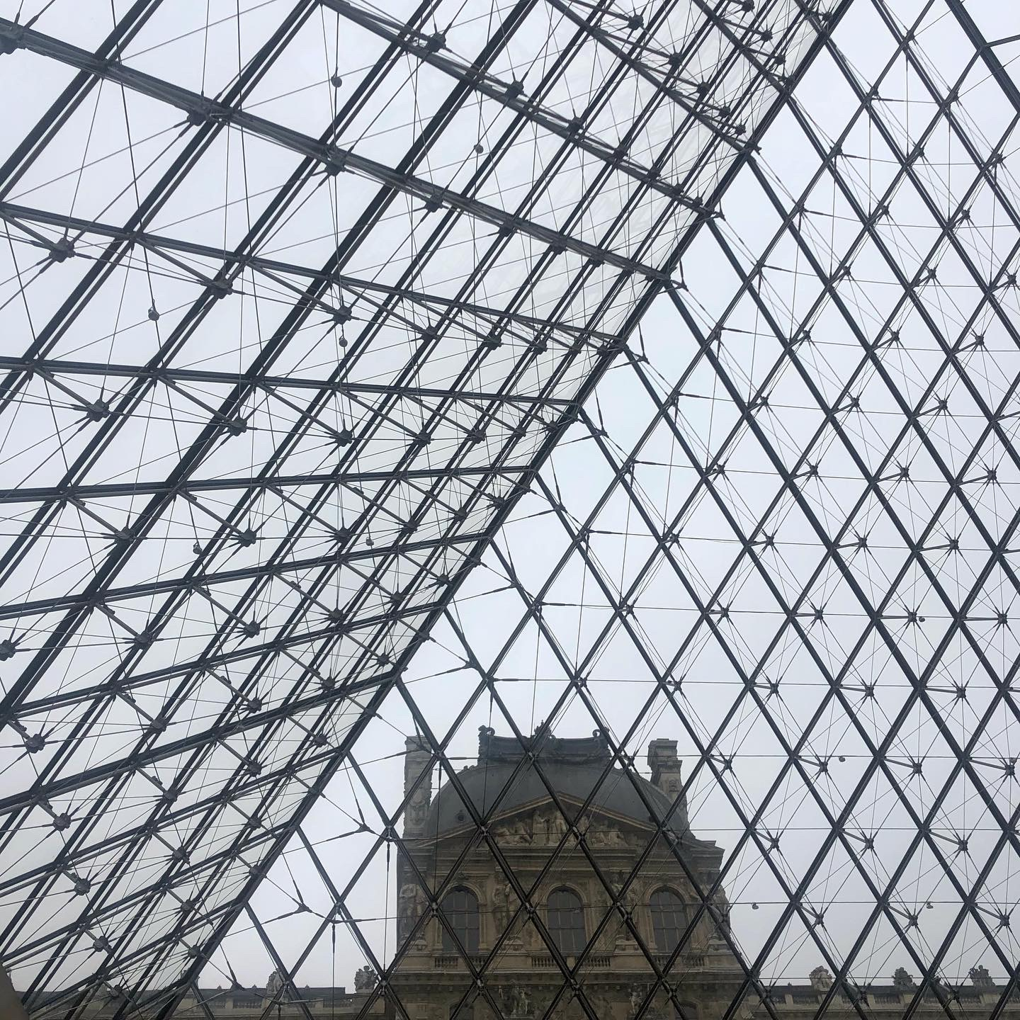 Louvre glass ceiling